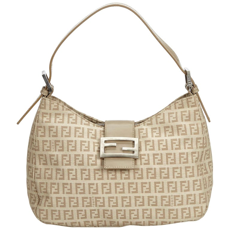 fa22fdb256c4 Fendi Brown Zucchino Canvas Baguette at 1stdibs
