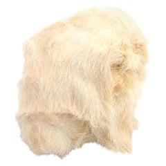 Louis Vuitton Cream Nutria Fur 212927 Hat