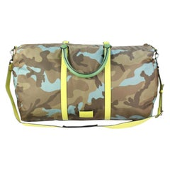 Valentino ( Ultra Rare ) Neon Camouflage Duffle 8vadg6717  Weekend/Travel Bag