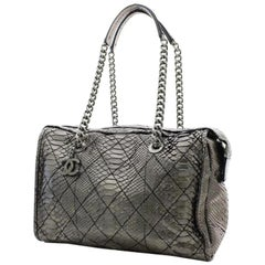 Chanel Classic Flap Camera ( Only One 216248Python Skin Leather Travel Bag