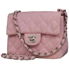 Chanel Classic Flap Quilted Canvas Mini Square Crossbody 215367 Shoulder Bag