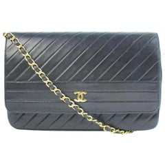 Chanel Classic Flap ( W/ Certificate ) 215343 Quilted Lambskin Shoulder Bag