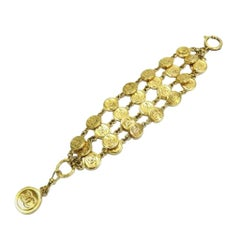 Chanel Gold Médallion Chain 2way 215560 Bracelet