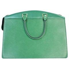 Louis Vuitton Riviera Epi 216059 Green Leather Satchel