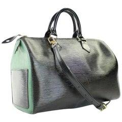 Louis Vuitton Speedy Bicolor Bandouliere Epi 35 63lva3117 Black Leather Satchel