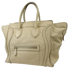 Céline Beige Luggage Pebbled Leather Mini Tote 216133