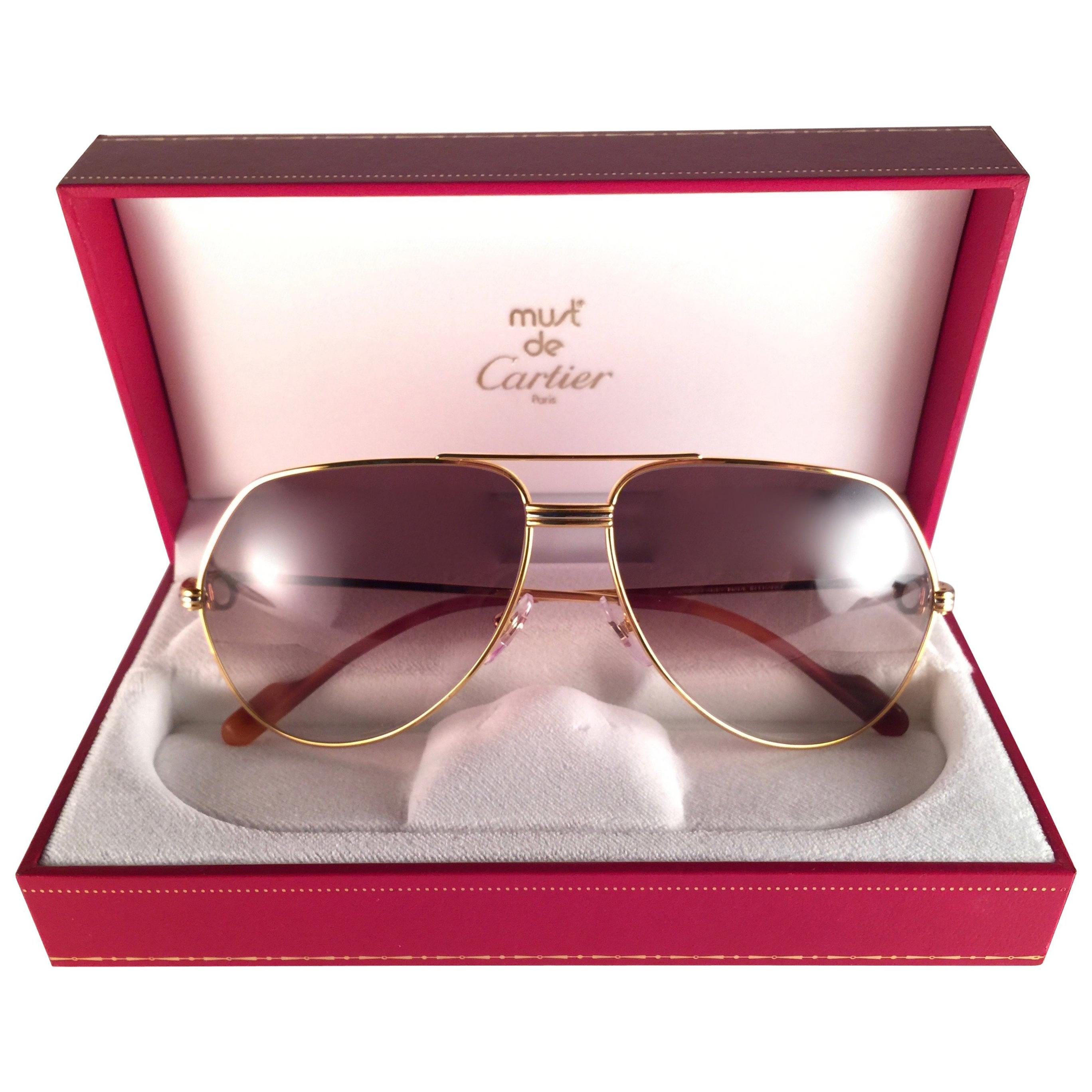 cb8a46a016 Vintage Cartier Sunglasses - 160 For Sale at 1stdibs