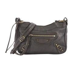 Balenciaga Hip Classic Studs Crossbody Bag Leather