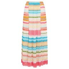 Missoni Striped Crochet-Knit Maxi Skirt