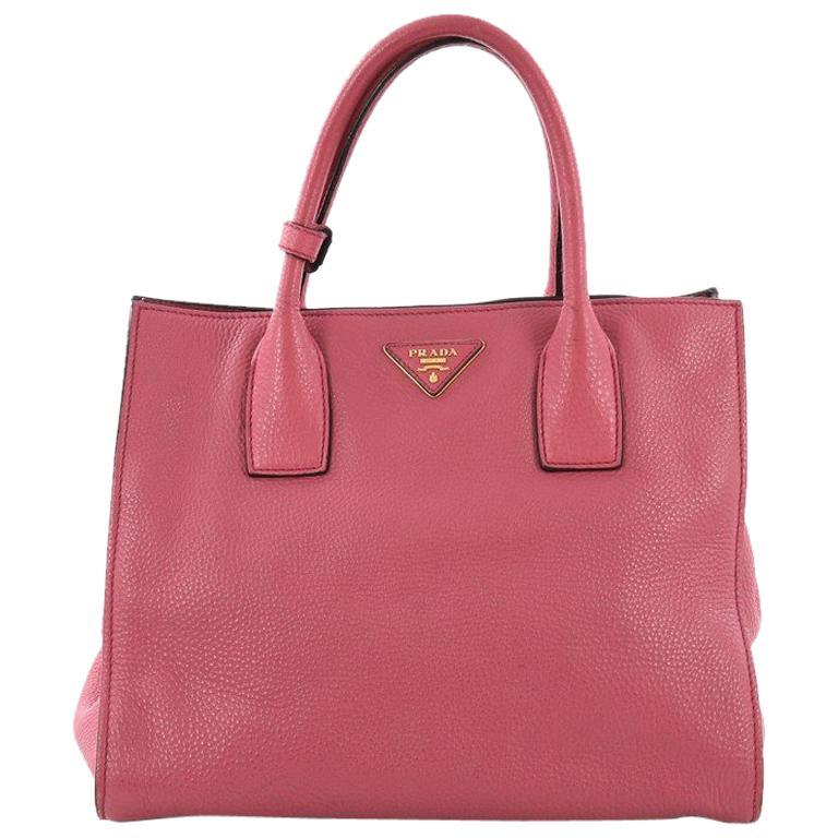 6154599dc320 Prada Twin Shopping Tote Vitello Daino Medium For Sale at 1stdibs