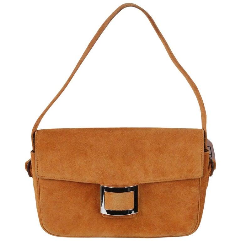 7a3739b97edf Hermes Vintage Tan Suede Sac Martine Shoulder Bag For Sale at 1stdibs