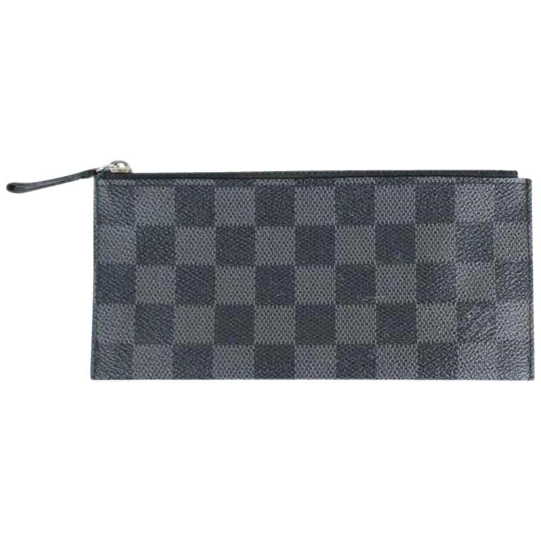 c741e9f97463 Louis Vuitton Damier Graphite Poche 11lvdg8917 Wallet For Sale at ...
