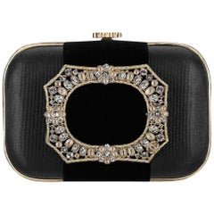 Chanel Minaudière Metiers D'art Crystal 5ccty71417 Black Clutch