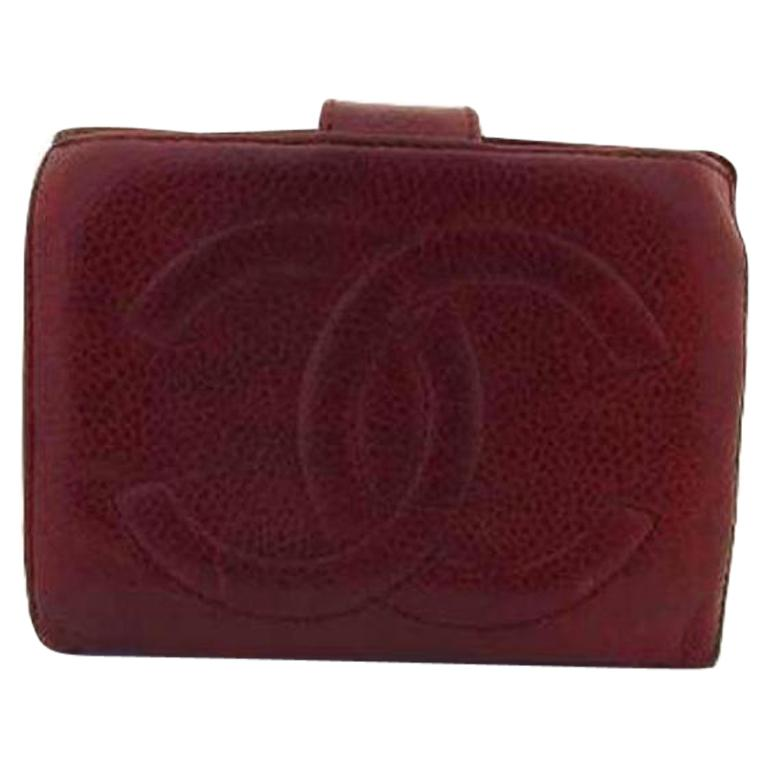 90ff484ad036 Chanel Red Caviar Burgundy Cc 216750 Wallet For Sale at 1stdibs