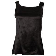 Chanel Black Silk Sleeveless Top Sz 38