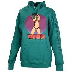 Supreme Men's Teal Vampirella Hooded Sweatshirt Sz L