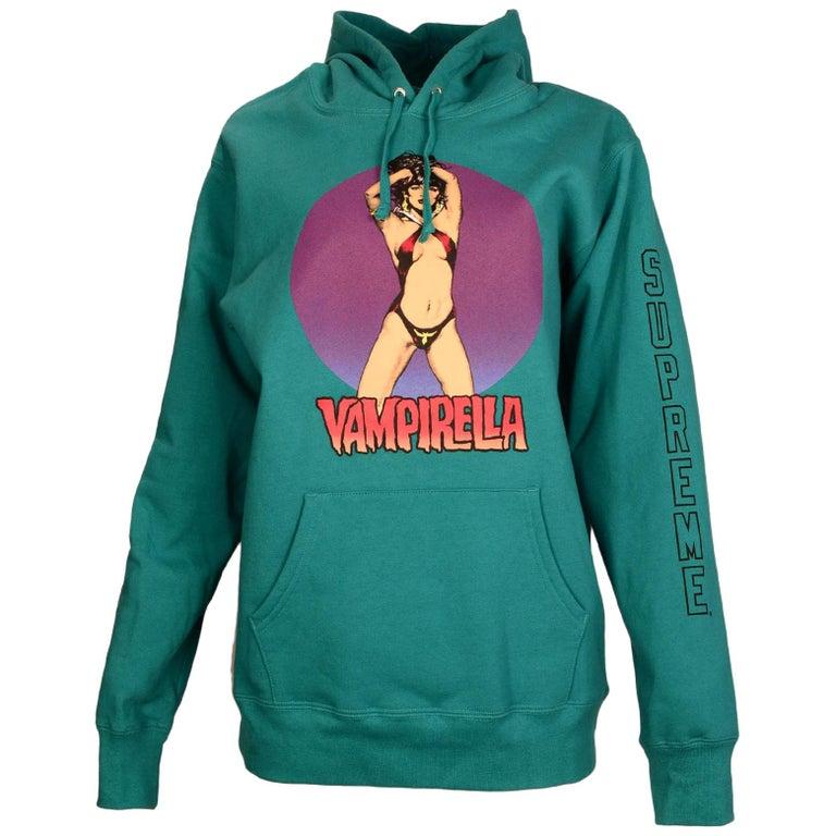 86d94ba93c89 Supreme Men s Teal Vampirella Hooded Sweatshirt Sz L For Sale at 1stdibs