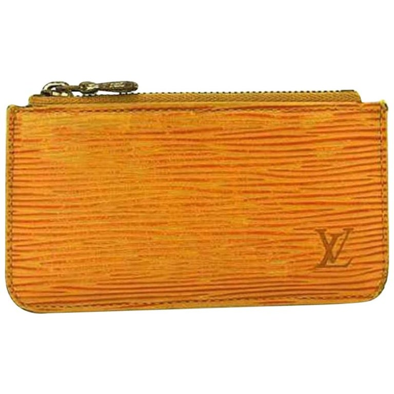bc56b6138cd9 Louis Vuitton Yellow Epi Leather Key Cles 218868 Wallet For Sale at ...