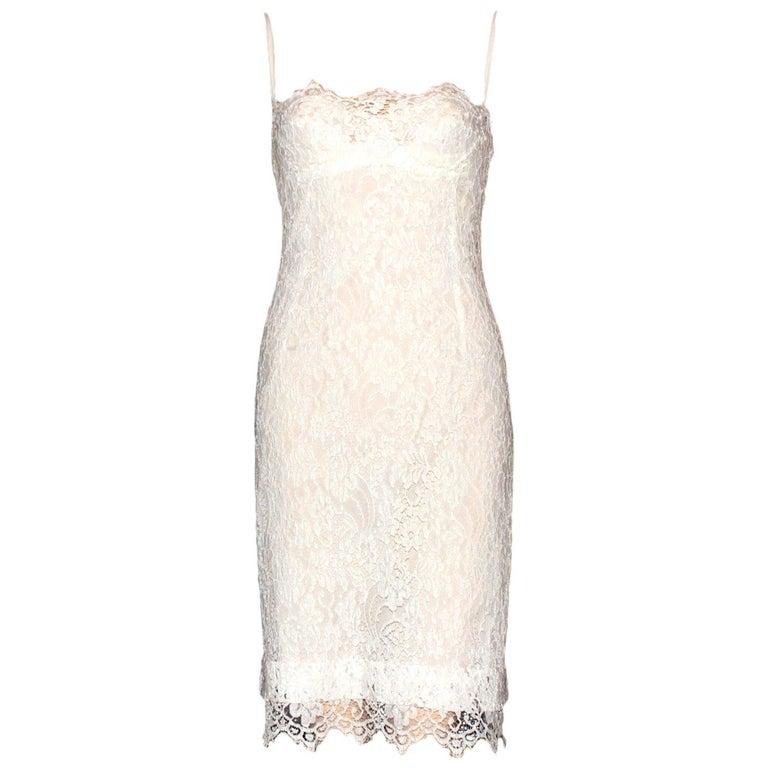 Dolce Gabbana White Lace Corset Dress