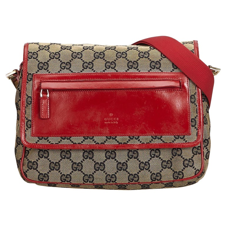 0e29d3c7d Gucci Brown GG Canvas Crossbody Bag at 1stdibs