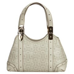 Gucci White Canvas Shoulder Bag