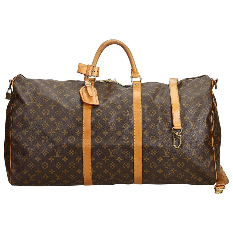 1eb50f8aed40 Louis Vuitton Brown Monogram Keepall Bandouliere 60 at 1stdibs
