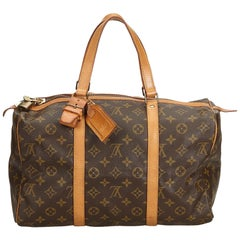 Louis Vuitton Brown Monogram Sac Souple 35