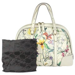 Gucci ( Limited ) Nice Infinity Flora Tote 6ggty6717 White Satchel