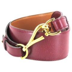 Hermès Bordeaux X Gold Color ( Rare ) Purple H 217401 Belt