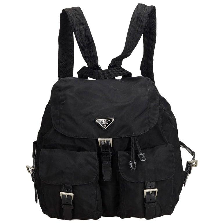 4c65460f5360f4 Prada Black Nylon Backpack at 1stdibs