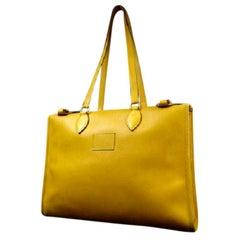 Hermès Cabas 40 217355 gelb Courchevel Tote