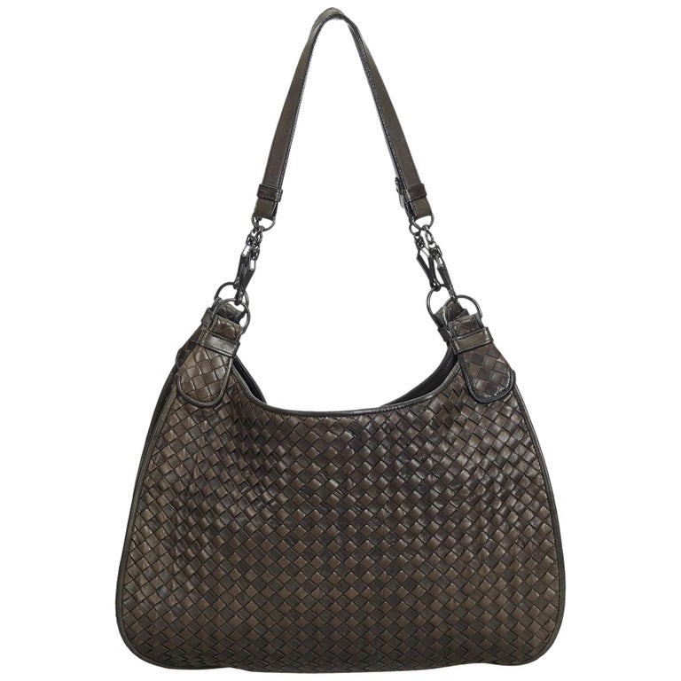 963ffce4764d7 Bottega Veneta Brown Intrecciato Leather Hobo Bag at 1stdibs