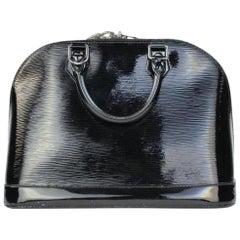 Louis Vuitton Alma Noir Electric Epi 2lvty52317 Black Leather Satchel
