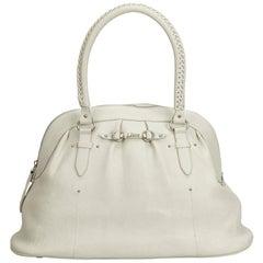 Dior White Leather Handbag