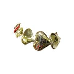 Louis Vuitton Gold Heart 216476 Bracelet