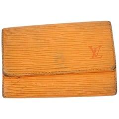 Louis Vuitton Orange Epi 6 Key Holder 8lk0918 Wallet