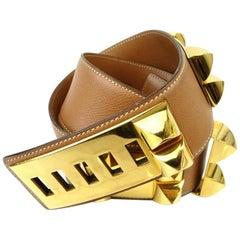Hermès Gold Collier De Chien Cdc Waist 220854 Belt