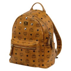 MCM Mc Mini-219718 Brown Leather Backpack