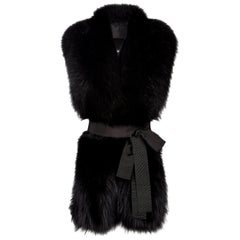 Verheyen London Legacy Black Fox Fur Stole worn 3 ways -  Brand New
