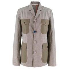 Mafalda Von Hessen patch-pocket houndstooth cotton jacket US 2