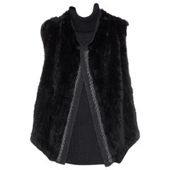 Vince Rabbit Fur Open Gilet Size 6