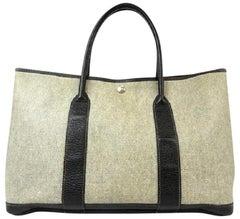 Hermès Garden Party 219720 Grey X Black Toile Ash Negonda Tote