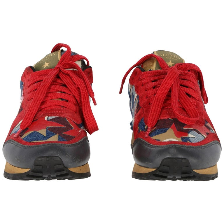 1c50564b746a 2010s Rockrunner Valentino Sneaker With Stars For Sale at 1stdibs