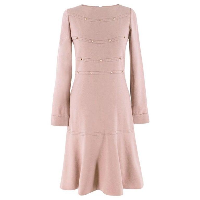 Valentino Nude Rockstud A-Line Dress US 6 For Sale