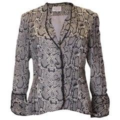 Vintage Silk Snakeskin print Jacket /top