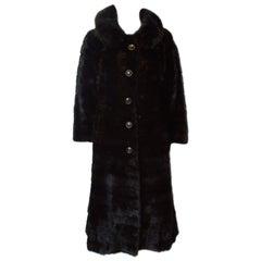 Vintage Dark Mink Coat
