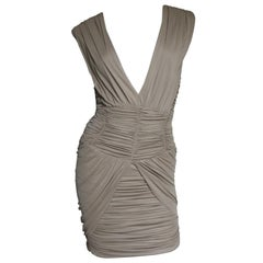 Balmain Runway Plunge Ruched Dress