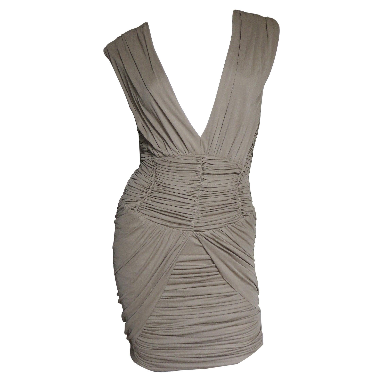 Balmain Runway Silk Ruched Dress