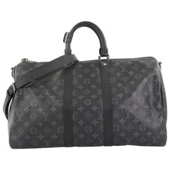 Louis Vuitton Keepall Bandouliere Bag Limited Edition Monogram Eclipse Canvas 45