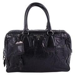 Prada Bauletto Handbag Nappa Antique Large